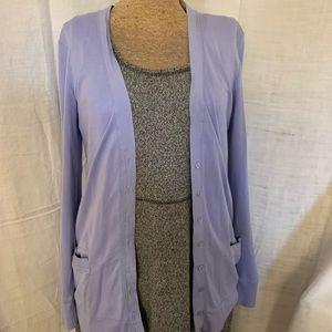 Lavender cotton cardigan sweater